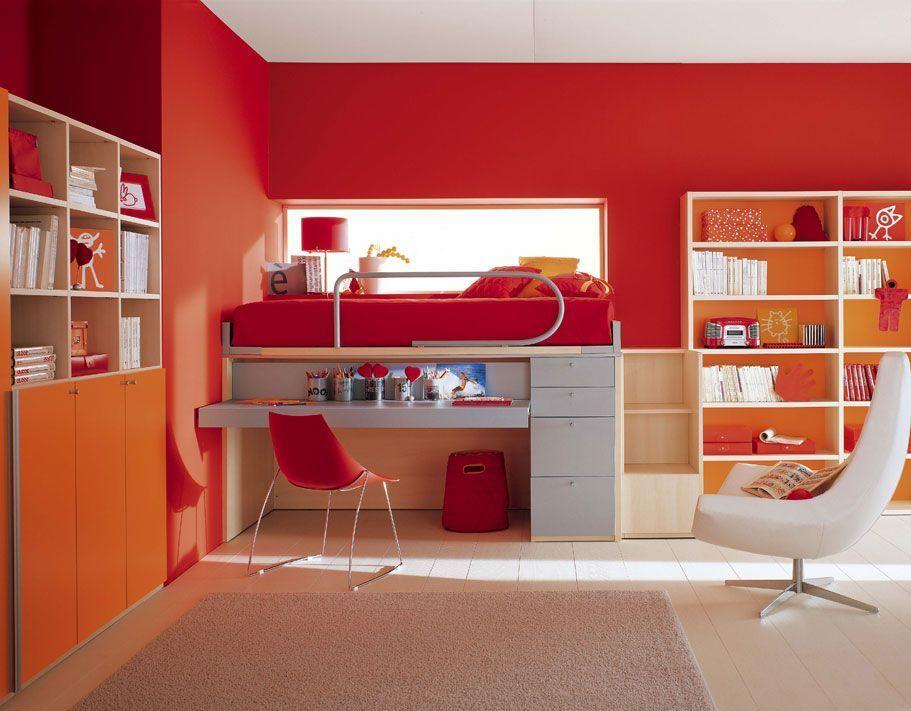 Dormitorio colorido para ni os muebles decorar y m s - Muebles de dormitorio de ninos ...