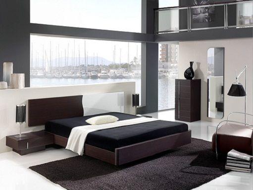 Decoracion De Dormitorio Con Estilo Moderno En Blanco Y Negro - Modelos-de-dormitorios-modernos