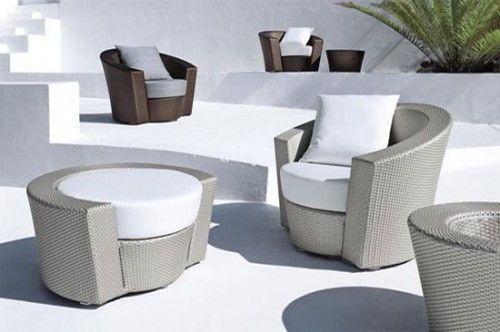 Dise o de muebles de rattan para exterior redondeados for Rattan muebles